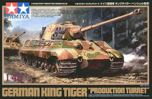 "Tamiya 1/48 German King Tiger ""Production Turret"" # 32536"