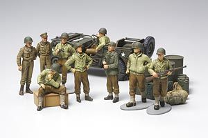 Tamiya 1/48 US Infantry at Rest with Jeep # 32552