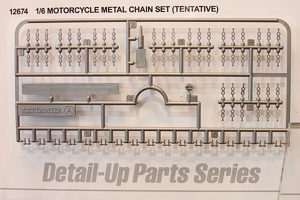 Tamiya Detail-Up Parts Assembly Chain Set for 1/6 Motorcycle # 12674