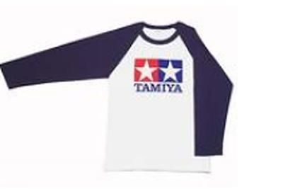 Tamiya - (L) T-Shirt with Long Sleeves (Blue) # 66739