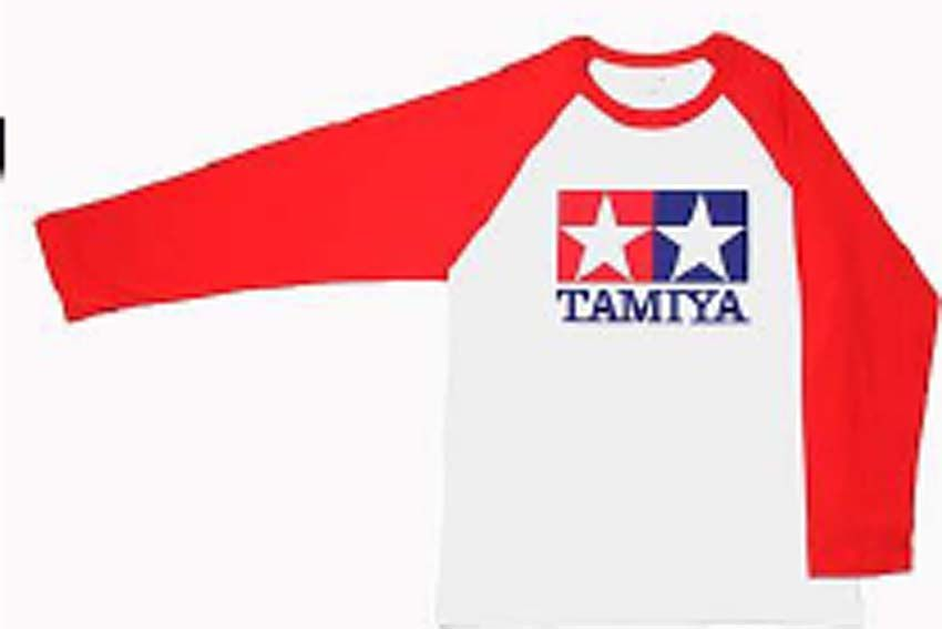 Tamiya - (L) T-Shirt with Long Sleeves (Red) # 66736