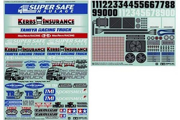 Tamiya - Marking Sticker (Racing Truck) # 54844