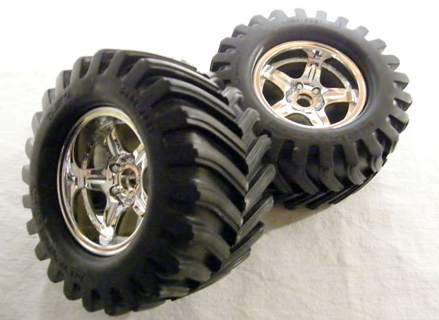 Tamiya - Rear Tires (1 Pair) for 46020 # 7684178