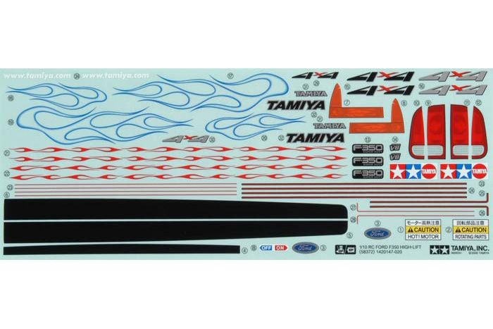 Tamiya - Sticker For 58372 (High Lift) # 9495491