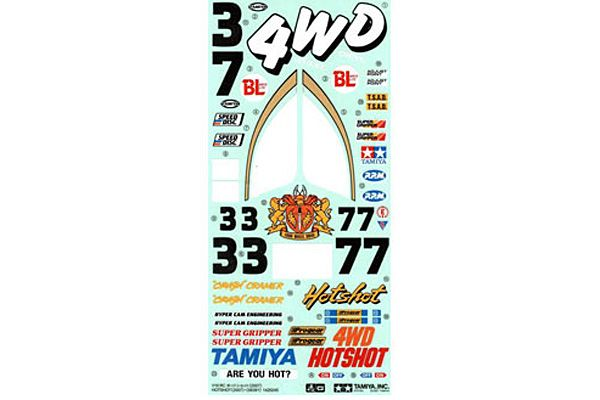 Tamiya - Sticker for 58391 Hot Shot # 9495516