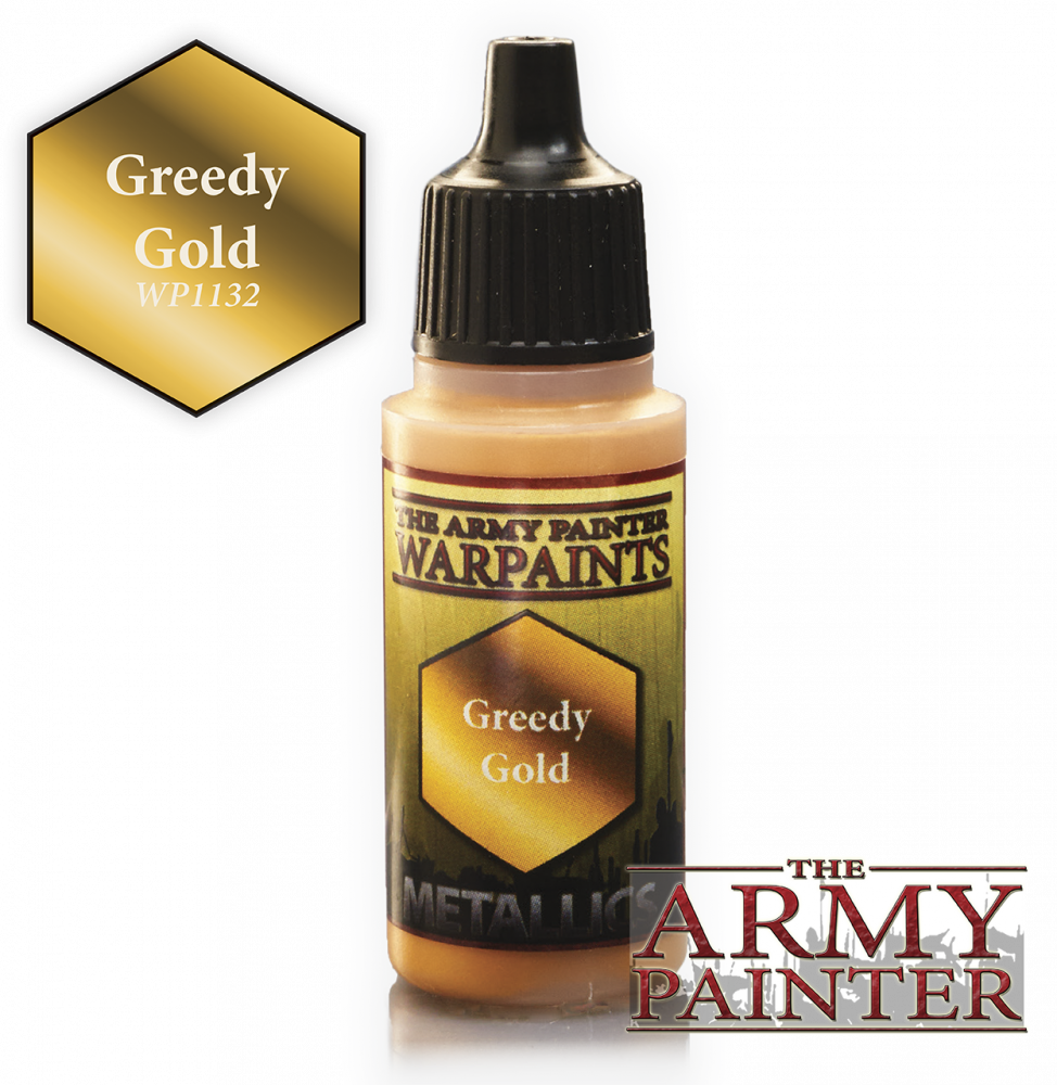The Army Painter - 18ml Greedy Gold Acrylic Paint # 41132