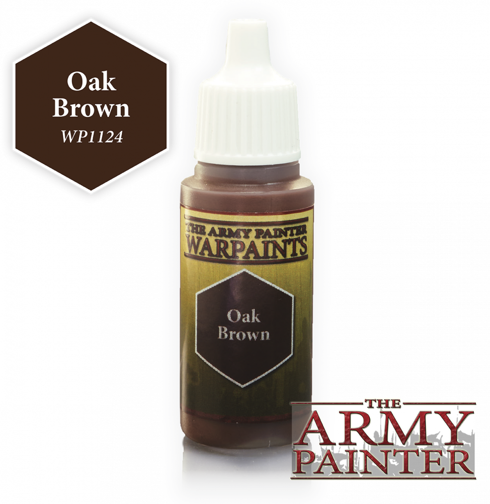The Army Painter - 18ml Oak Brown Acrylic Paint # 41124