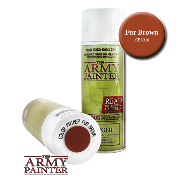 The Army Painter Colour Primer Fur Brown 400ml Can