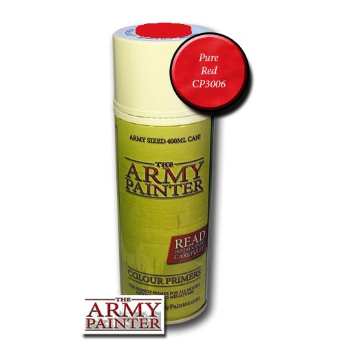 The Army Painter Colour Primer Pure Red 400ml Can