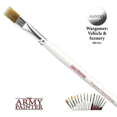 The Army Painter - Vehicle/Scenery Wargamer Brush (BR7011) # 41220