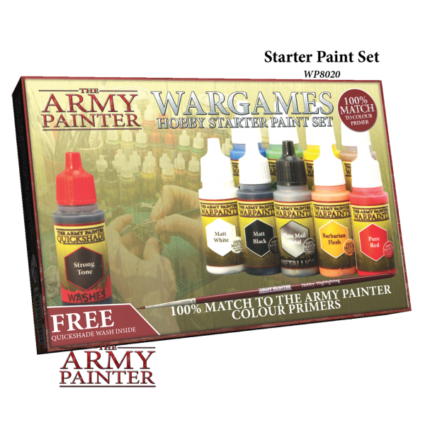 The Army Painter - Wargames Hobby Starter Paint Set # WP8020