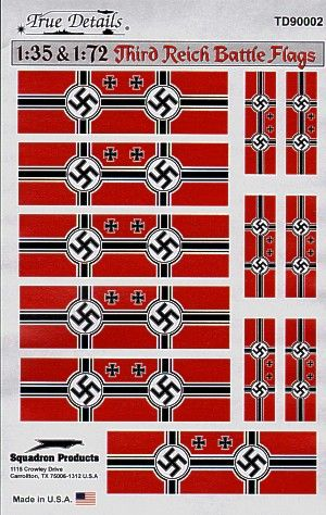 True Details 1/35 & 1/72 Third Reich Battle Flags # 90002