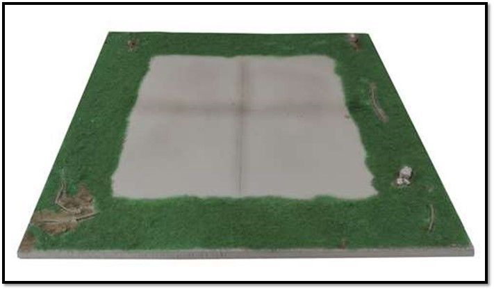 "True Details 1/48 Helicopter Pad Display Base 11.5"" x 11.5"" # D48007"