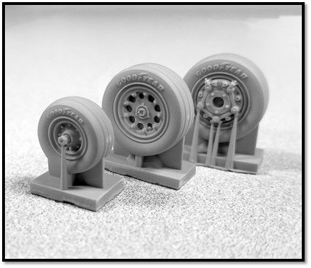 True Details 1/48 Northrop F-5E Wheel Set # P48206
