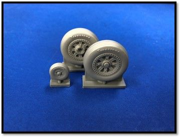 True Details 1/48 Republic P-47D Thunderbolt Wheel Set # P48210