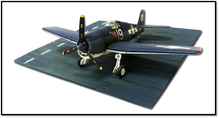 "True Details 1/48 US WWII Flight Deck Section 11"" x 11"" Resin Display Base # D48004"