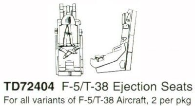 True Details 1/72 Northrop F-5 or T-38 Ejection Seats # 72404