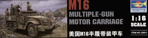 Trumpeter 1/16 M16 Half Track Multiple Gun Motor Carriage # 00911