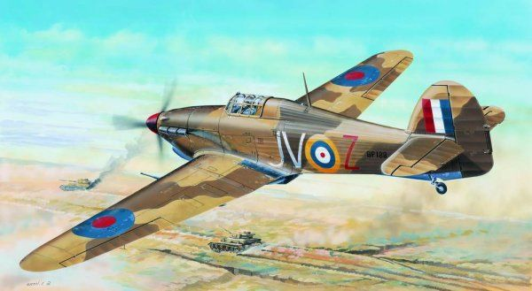 Trumpeter 1/24 Hawker Hurricane Mk.IID Tropical # 02417