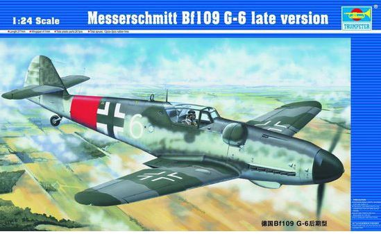 Trumpeter 1/24 Messerschmitt Bf-109G-6 Late Version # 02408