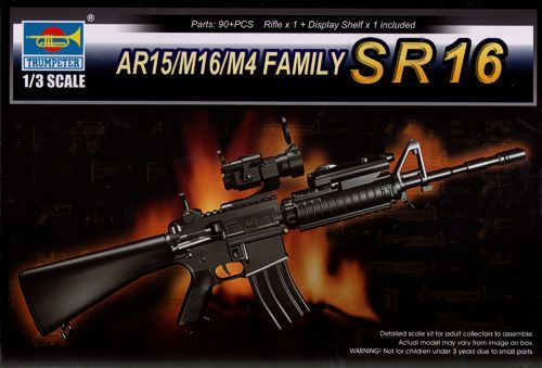 Trumpeter 1/3 SR16 Rifle AR-15/M16/M4 Family # 01912