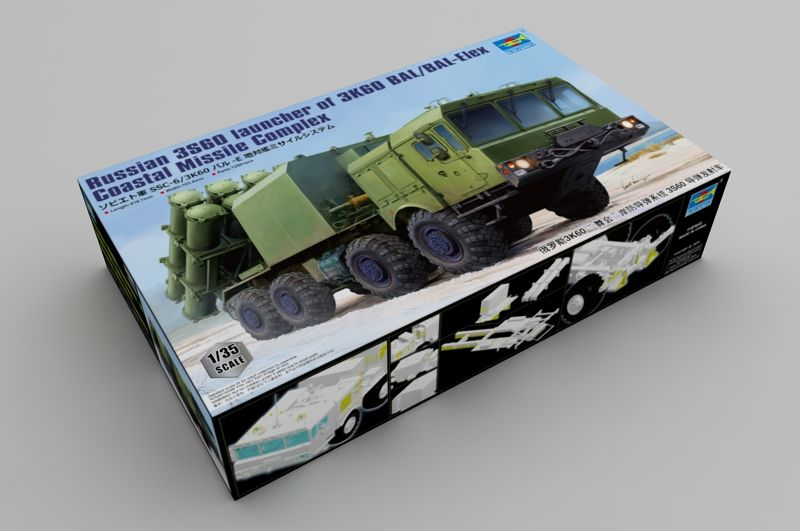 Trumpeter 1/35 Russian 3S60 Launcher of 3K60 BAL/BAL-Elex Coastal Missile Complex # 01052