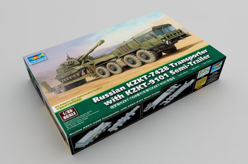 Trumpeter 1/35 Russian KZKT-7428 Transporter with KZKT-9101 Semi-Trailer # 01039