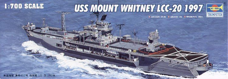 Trumpeter 1/700 USS Mount Whitney LCC-20 1997 # 05719