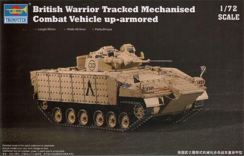 Trumpeter 1/72 MCV80 Warrior with enhanced armour British Army # 07102