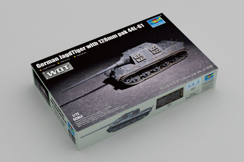 Trumpeter 1/72 WOT German JagdTiger with 128mm pak 44L-61 # 07165