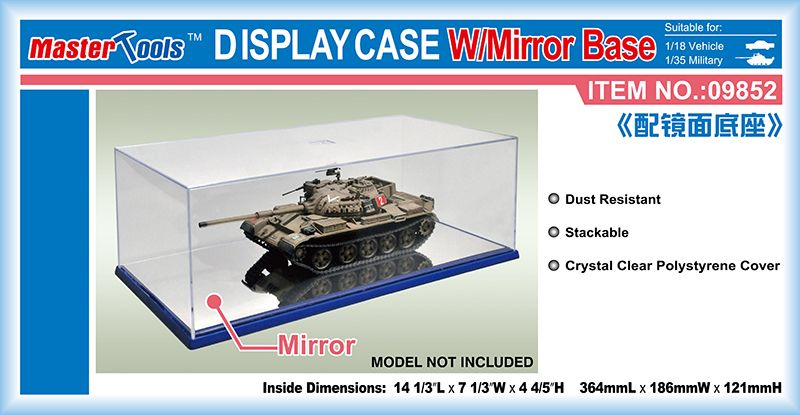 Trumpeter - Display Case with Mirror Base (364 x 186 x 121mm) # 09852