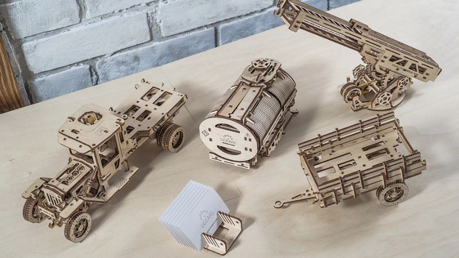 "UGears Mechanical Model - Wooden Set of Additions to the ""UGM-11 Truck"" # 70018"