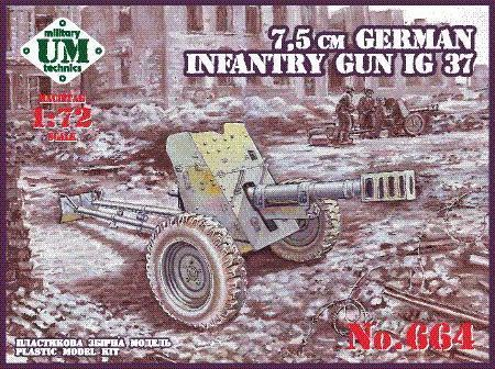 UM-MT 1/72 75mm German Infantry Gun IG 37 # 664