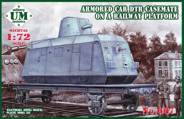 UM-MT 1/72 Armored Car DTR-Casemate on Railway Platform # 667