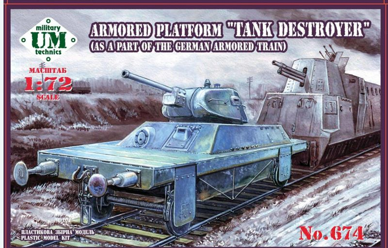 "UM-MT 1/72 Armored Platform ""Tank Destroyer"" (As a Part of the German Armored Train) # 674"