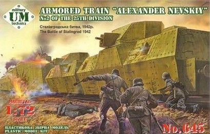 "UM-MT 1/72 Armored Train ""Alexander Nevsky"" # 645"