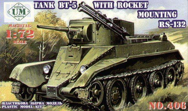 UM-MT 1/72 BT-5 Tank with Rocket Mounting RS-132 # 406