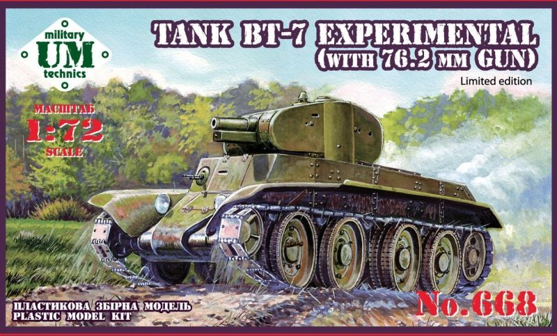 "UM-MT 1/72 BT-7 ""Experimental"" with 76,2mm Gun # 668"