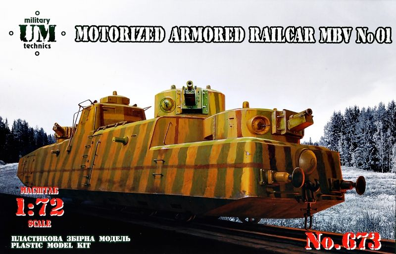 UM-MT 1/72 MBV No.01 Motorized Armored Railcar # 673