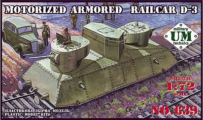 UM-MT 1/72 Motorized Armoured Railcar D-3 # 639