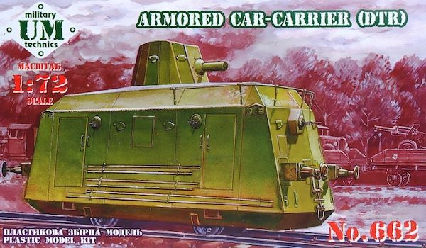 UM-MT 1/72 Railway Armored Car-Carrier (DTR) # 662