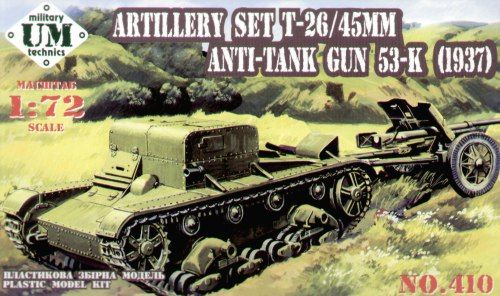 UM-MT 1/72 Russian T-26T Tank with 45mm AT Gun # 410