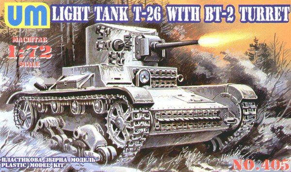 UM-MT 1/72 T-26 Light Tank with BT-2 Turret # 405