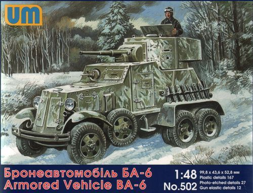 Unimodel 1/48 Soviet BA-6 Armoured Car # 502