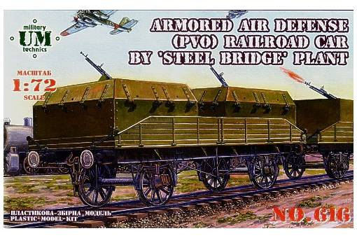 Unimodel 1/72 Armoured Air Defense (PVO) Railroad car # 616
