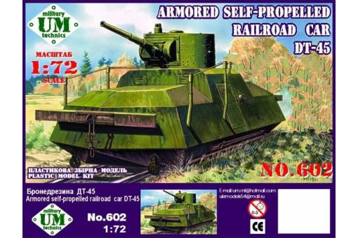 Unimodel 1/72 Armoured Self-propelled Railroad Car DT-45 # 602