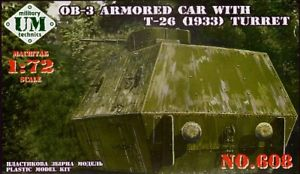 Unimodel 1/72 OB-3 Armoured Rail Car with T-26 (1933) Turret # 6