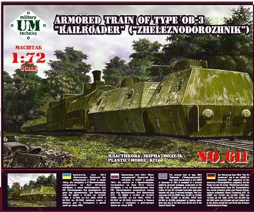 Unimodel 1/72 Type OB-3 Armoured Train Zheleznodorozhnik # 611