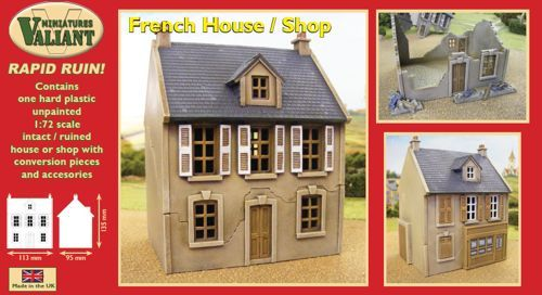 Valiant Miniatures 1/72 French House/Shop # RR001