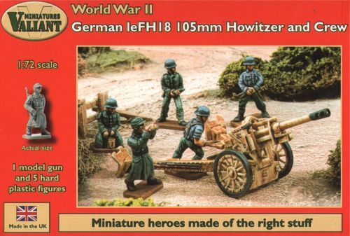 Valiant Miniatures 1/72 German leFH18 105mm Howitzer and Crew # VM007